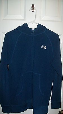 Nice & Hardly Used Blue THE NORTH FACE Boys Hoodie XL 100% Polyester w/Pockets