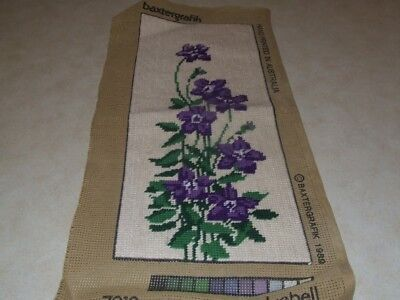 Completed Tapestry - Baxtergrafik - Royal Blue Bell