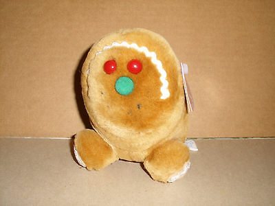 """Swibco Puffkins Limited Edition Spice Gingerbread Plush 5"""" Stuffed Beanie NWT"""