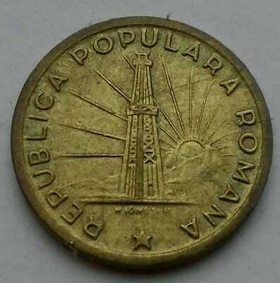Romania 1 Leu 1950. KM#78. One Dollar coin. People's Republic. Lighthouse & Sun