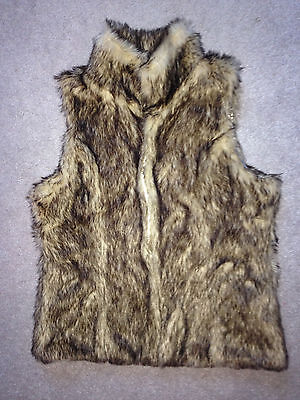 NWT~Faux Fur Vest * girls XL 14-16 * Gorgeous & Fun! * Retail=$22.99