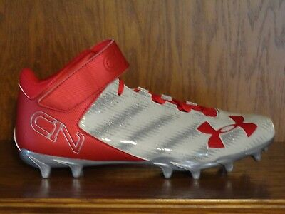 6ad443e4e8d8 NEW! MENS UNDER ARMOUR UA C1N CAM NEWTON Molded Football Cleats GRAY ...