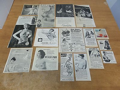 Vintage Bra lingerie ads  lot of  clippings #SZ