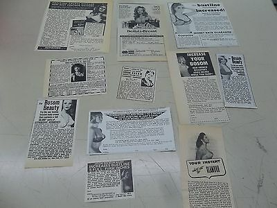 Lot of vintage Bust Developer ads clippings  #807