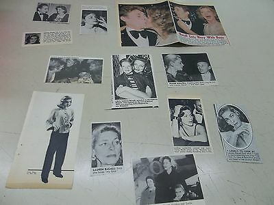Lauren Bacall   lot of clippings  #YB