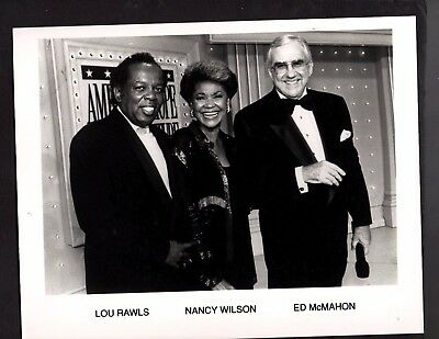 Press Photograph Celebrities Lou Rawls, Nancy Wilson and Ed McMahon *4827
