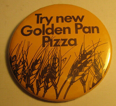 Vintage 1987 Pizza Hut Golden Pan Pizza Button