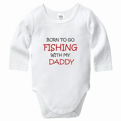 Born to Go Fishing with my Daddy, Babygrow, Bodysuit, Romper, Baby clothes