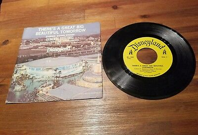 1968 There's A Great Big Beautiful Tomorrow Disneyland Records GE 45 Vinyl
