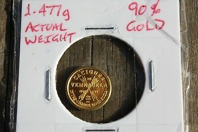 Venezuala bank Gold medallion