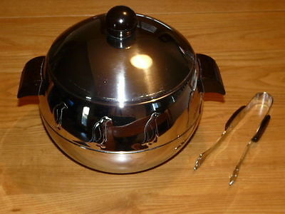Vintage Chrome West Bend PENGUIN Hot and Cold Server - Ice Bucket