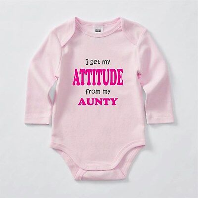 I get my Attitude from my Aunty Bodysuit, Romper, Baby clothes