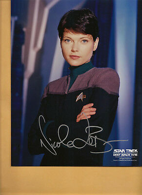 Star Trek DS9 Deep Space Nine Signed LOT of Three signed Ladies