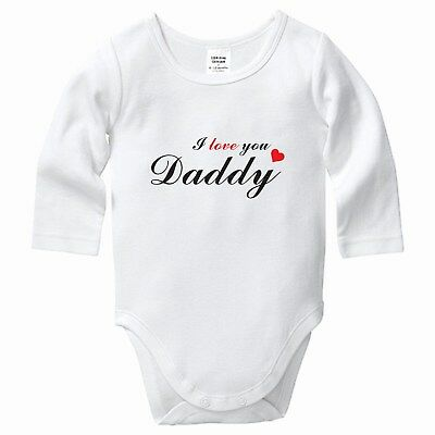 I Love You Daddy, Bodysuit, Romper, Baby clothes