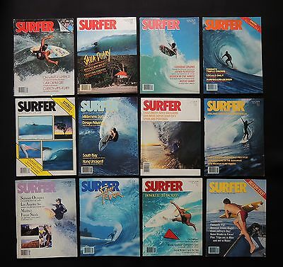 Surfer Magazine 1984 Used Lot Of 12 Issues Vol.25  Surf Surfing Hawaii