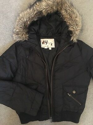 ZARA Woman Snow Jacket - Black, Size: M