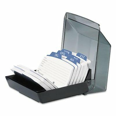 Rolodex Petite Covered Tray Card File with 2.25 x 4 Inch Cards and 9 Guides