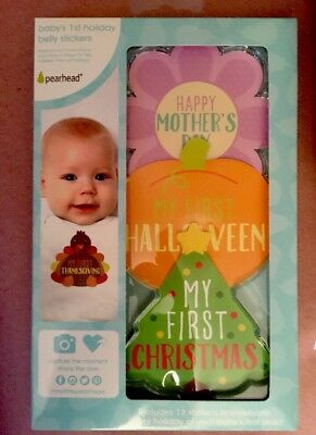 Holiday Shaped First Year Holiday Milestone Photo Sharing Baby Belly Stickers