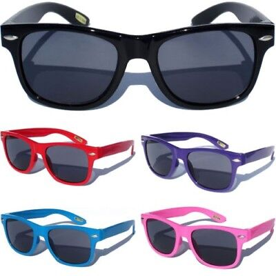Boys Girls Kids Baby Sunglasses Classic Retro Small Horn Rim Design Goggles New