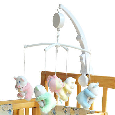 For Baby Infant Kids Rotary Mobile Crib Toy Clockwork Movement Bed Music Box New