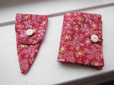 Sewing Needle Case 6 Felt Pages Also Matching Scissor Case Hand Made