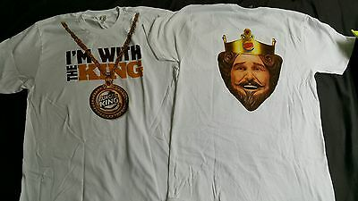 Authentic Burger King Shirt. I'm with the King. NEW Never worn. Size LARGE