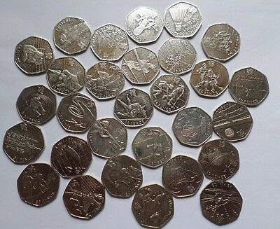 Olympic 50p coin collection London 2012 Complete set of 29 coins dated 2011
