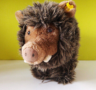 "Steiff Wild Boar 30 cm 11.8"", original button and flag"