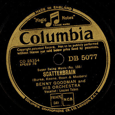 BENNY GOODMAN & HIS ORCHESTRA Scatterbrain/One sweet letter from you 78rpm  X283
