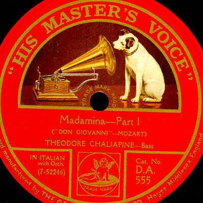 "THEODORE CHALIAPINE -RUSSIAN BASS- Madamina""Don Giovanni"" in Italian 78rpm S9534"