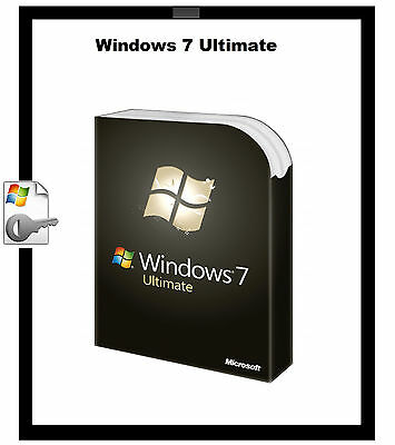 Genuine Microsoft Windows 7 Ultimate 32/64bit Product Activation Key