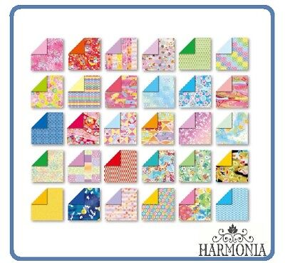 Japanese Origami Paper CHIYOGAMI Double Side 7.5x7.5cm 30 Sheets