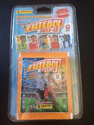 Panini Futebol 2017-18 Sealed Blister Of 10 Packet Liga Nos Portuguese League