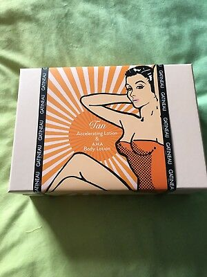 GATINEAU GIFT SET TAN ACCELERATOR & AHA BODY LOTION SUPERSIZE 400ml NEW & BOXED