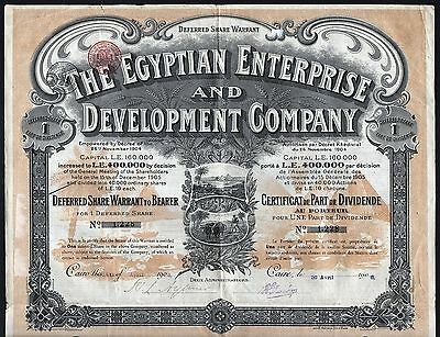 1906 Kairo, Ägypten: Egyptian Enterprise & Development Company - Share Warrant