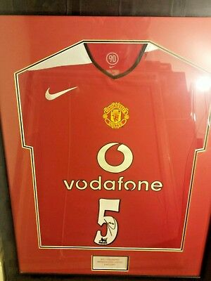 Signed and Framed Manchester United Shirt by Rio Ferdinand