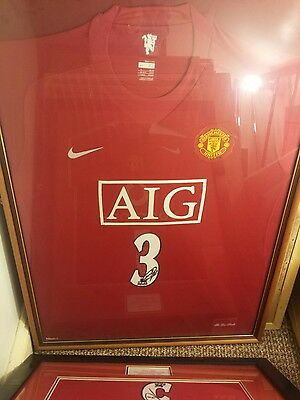 Signed and Framed Manchester United Shirt by Patrice Evra