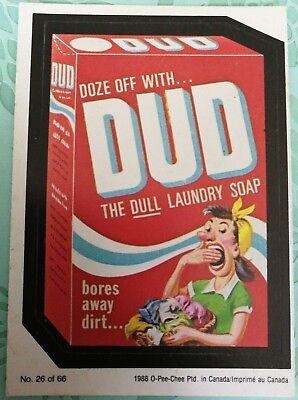 Wacky Packages 1988 #26 Doze Off With Dud O-PEE-CHEE OPC Card