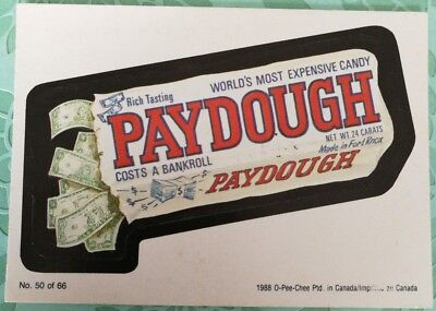 Wacky Packages 1988 #50 Paydough Costs A Bankroll Card O-PEE-CHEE Combine Ship