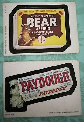 Vintage 1988 OPC O-Pee-Chee Topps Wacky Packages #7 & #50