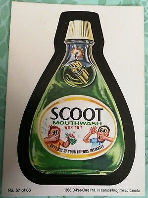 Wacky Packages 1988 #57 Scoot Mouthwash Card O-PEE-CHEE OPC Combine Shipping