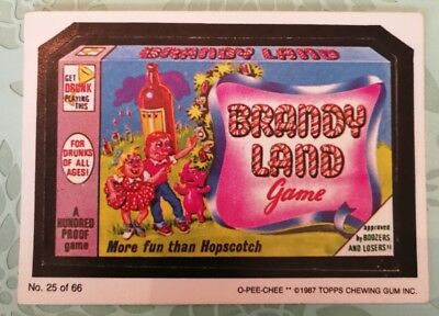 VTG Wacky Packages Topps Brandy Land 1987 Card #25 OPC O-PEE-CHEE Combine Ship