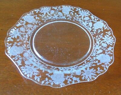 """Cambridge Wildflower Clear #3400 7"""" Salad/Luncheon Plate(s)"""