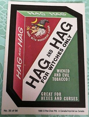 Wacky Packages 1988 OPC O-PEE-CHEE Hag And Hag For Witches Card #35