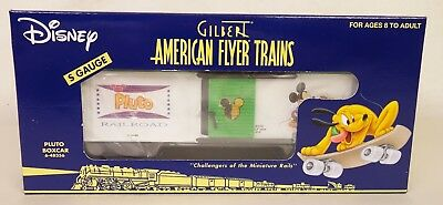 "American Flyer #6-48356 Disney ""pluto"" Box Car-Nib!"