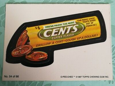 Wacky Packages Topps Card #54 1987 Cents Copper Flavor