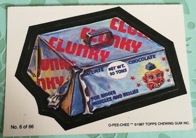 Wacky Packages 1987 Topps Card Clunky #6 Series 3