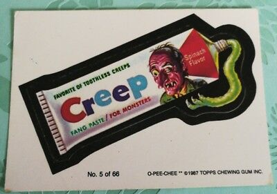 1987 Topps Wacky Packages Sticker Card - #5 Creep