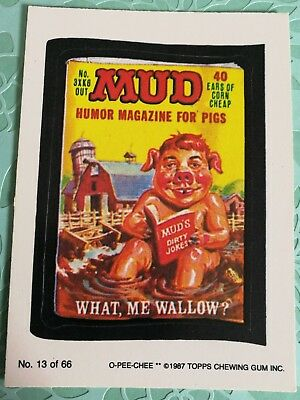 Wacky Packages Mud Magazine #13 Topps 1987 Card NM Condition