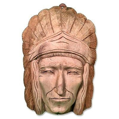 Solid Wood Carving Native American Chief